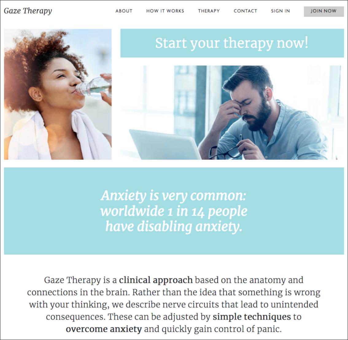 Gaze Therapy Baby Gaze website