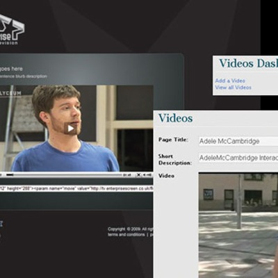 Enterprise Screen TV Video Portal