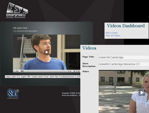 Enterprise Screen TV Video Portal