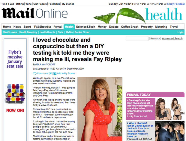 Fay Ripley in the Daily Mail